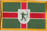Nottinghamshire Embroidered Flag Patch, style 08